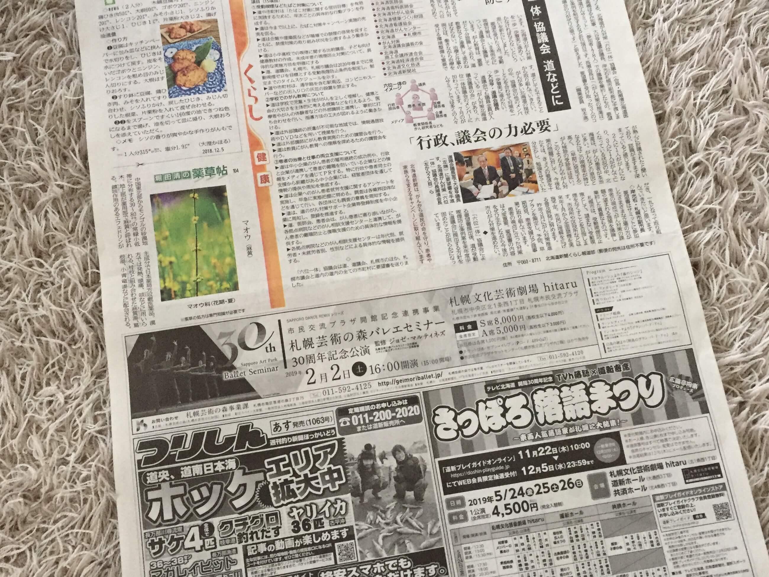 アイロンかけた新聞